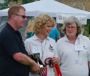 Photo of Greyhound Walks Committee members, Dave, Debbie & Janet.