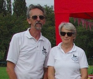 Photo of Greyhound Walks Committee members, Rob & Jan Tiffen.