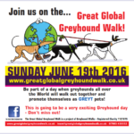 Poster for the 2016 Great Global Greyhound Walk