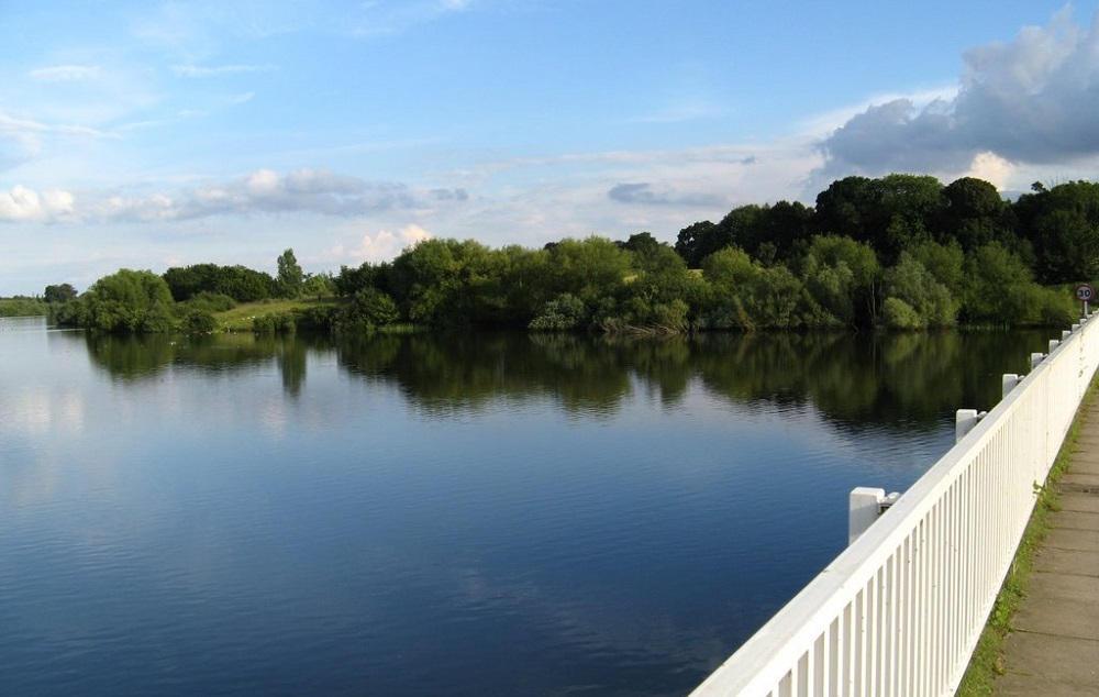 Photo from a bridge over Alton Water.