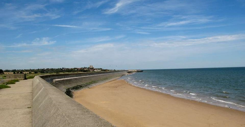 Photo of the view from the sea wall between Frinton and Holland Haven.
