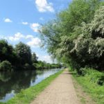 Photo of the canal path at Lee Valley.
