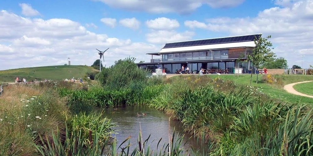 Photo of the Notley Country Park Discovery Centre.