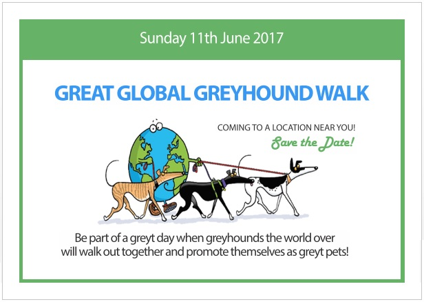 Great Global Greyhound Walk poster