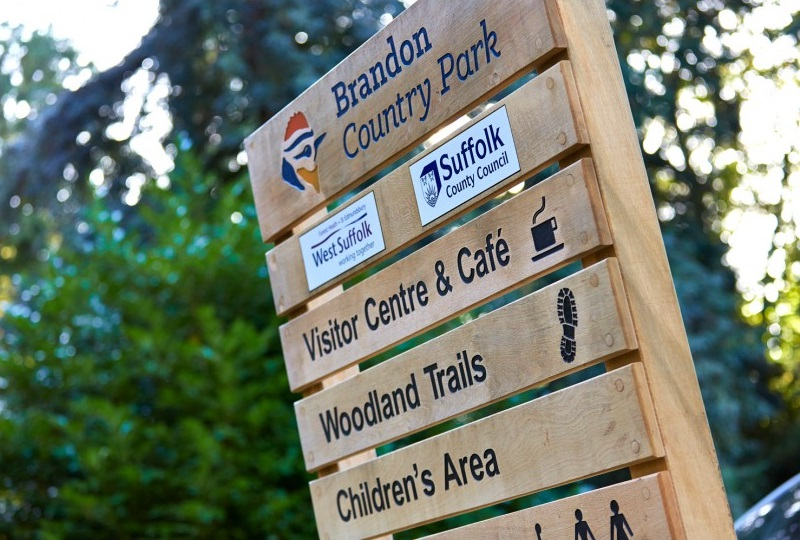 Brandon Country Park Sign