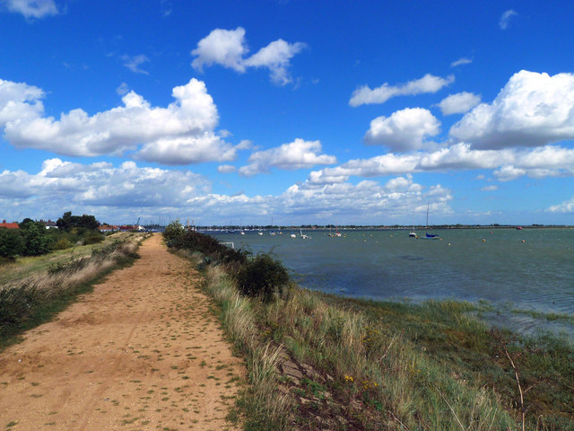 View of the sea wall path at Heybridge.