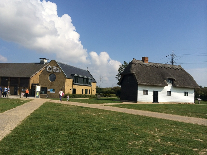 The visitor centre at Wat Tyler Country Park.