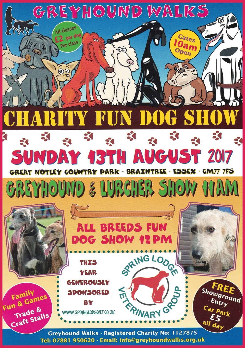 Poster for the 2017 Greyhound Walks Show